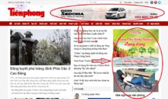 Quảng cáo trên báo điện tử Tiền Phong Online