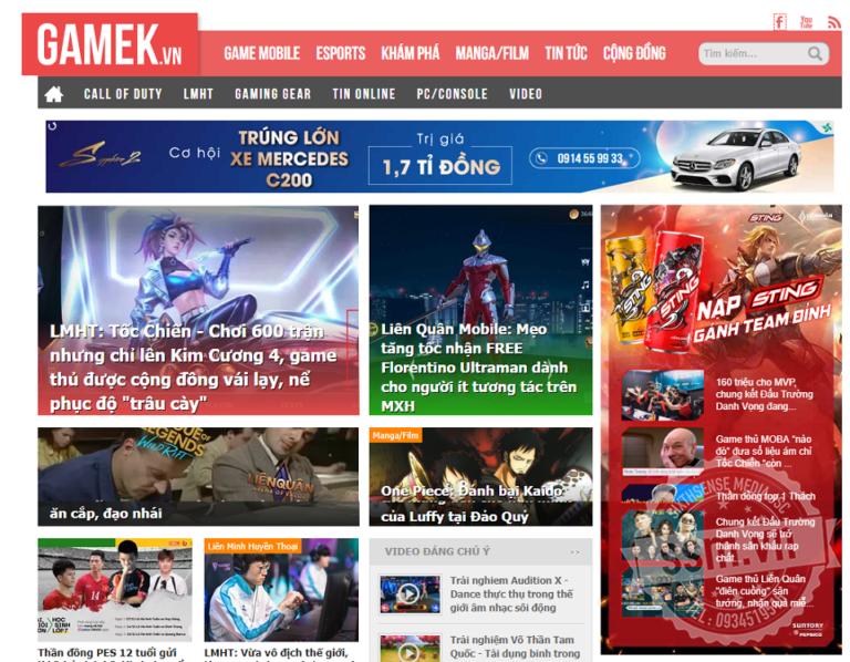 quảng cáo trên GameK.vn